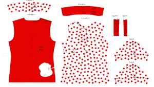 3Dで服のモデリング_2D図面
