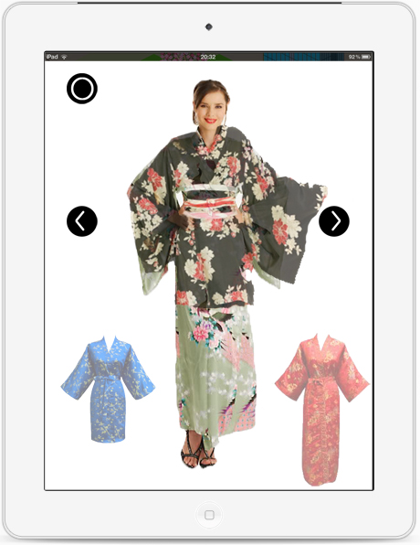 着物着せ替えiPadアプリ