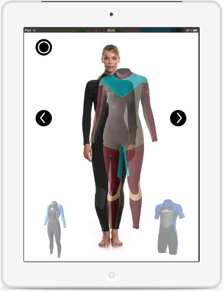 ウェットスーツ着せ替えiPadアプリ